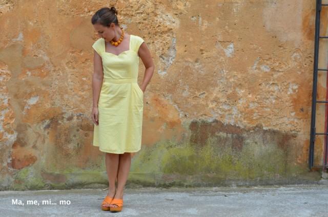 Vestido Cambie canario