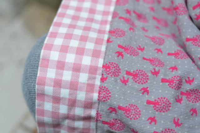 mamemimo: pink swallow geranium dress