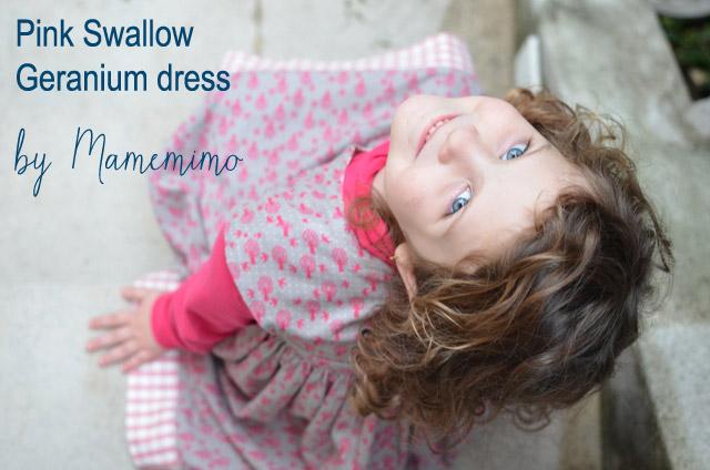 Pink Swallow Geranium Dress